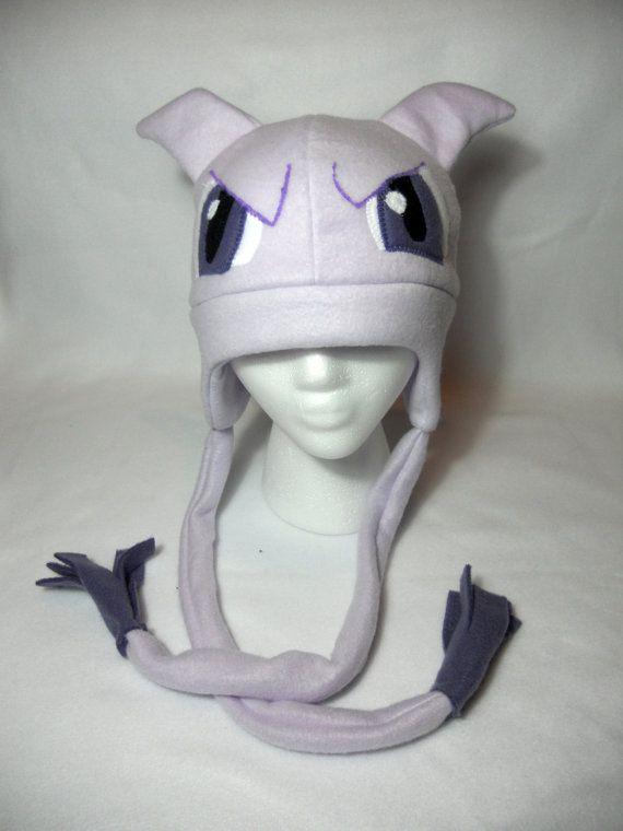 Pokemon Inspired Mewtwo Fleece Hat -MADE TO ORDER- | Pokémon Hats ...