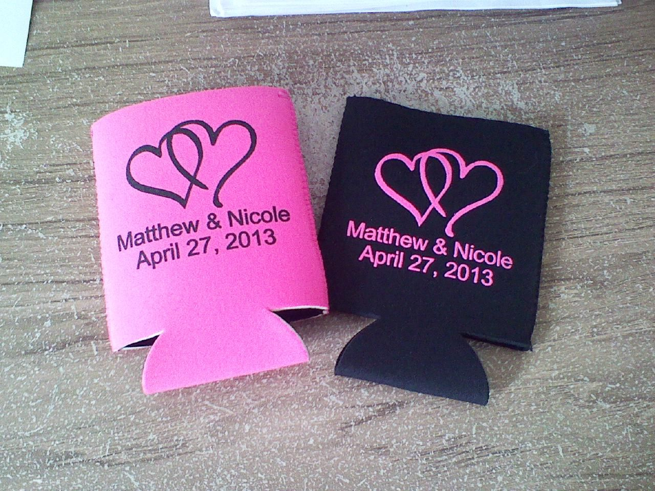 Simple Koozie wedding favors www.kustomkoozies.com Use discount code ...