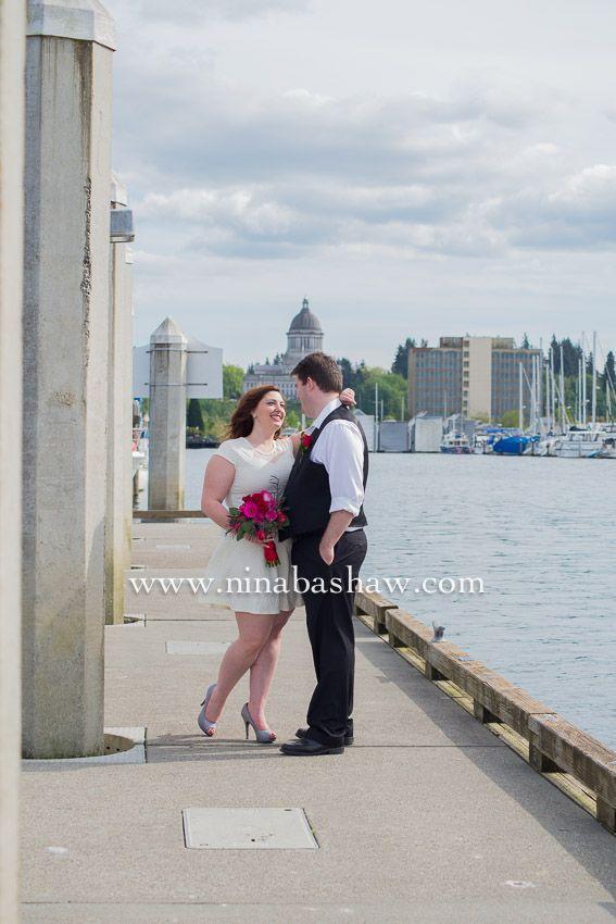Olympia WA Courthouse Wedding Ninabashawphotography