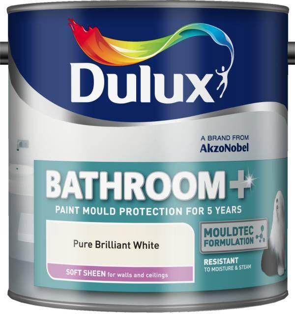 Dulux Bathroom Pure Brilliant White Soft Sheen Emulsion Paint 2 5l Diy Ireland Com Diy At B Q Dulux Soft Sheen Dulux Light And Space