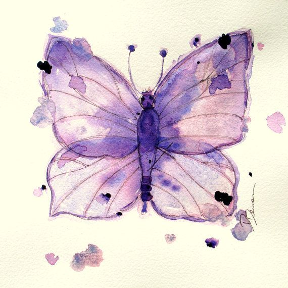Watercolor Butterfly Print Original By Redbirdcottageart On Etsy