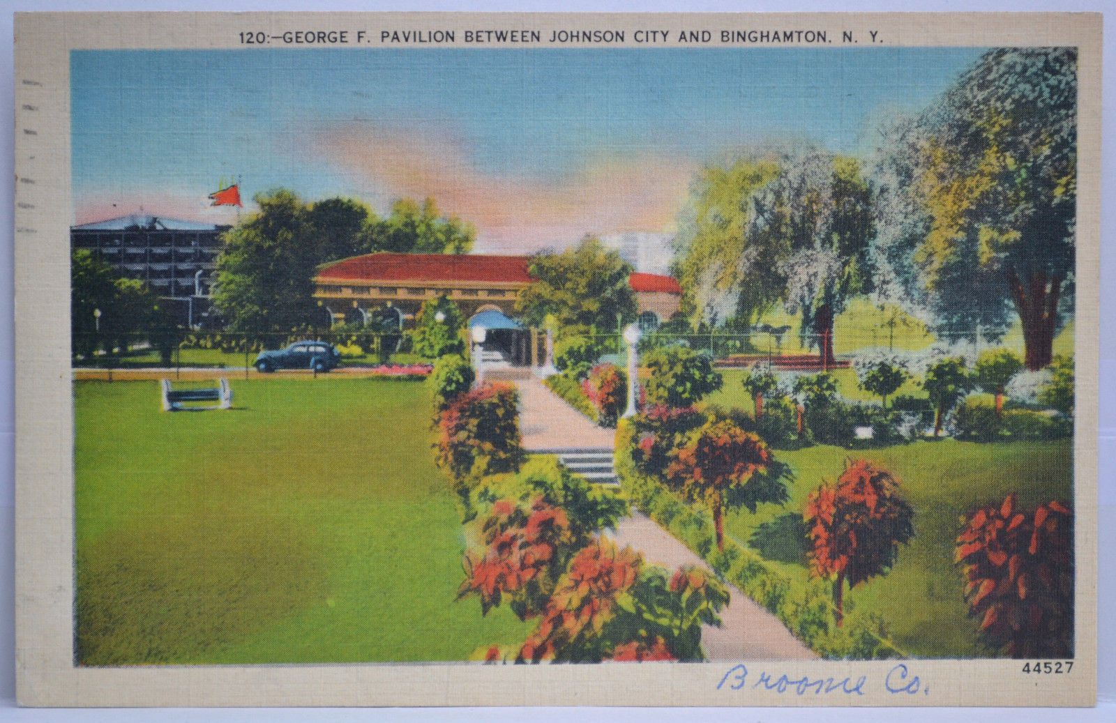 George F Pavilion Postcard Post 1939 Johnson City Postcard Binghamton