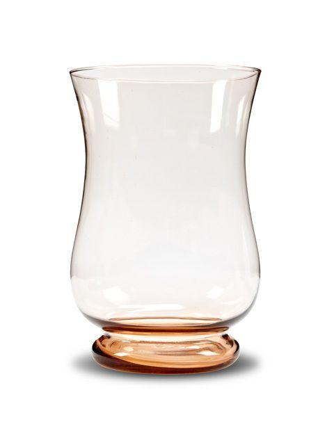 12 Glass Large Shapely Hurricane Candle Holder Vase Centerpiece W