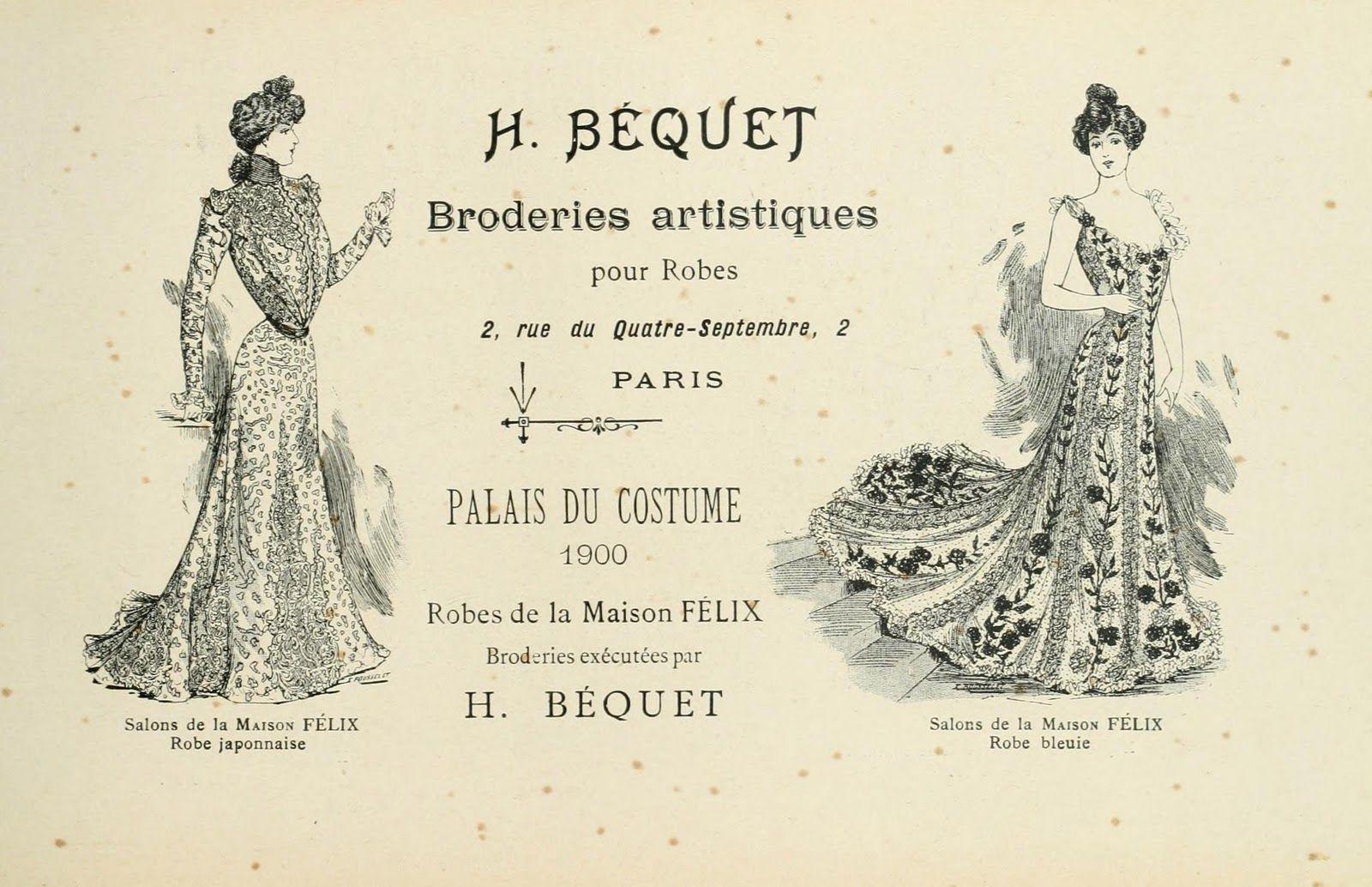 French Ephemera   Vintage Ephemera: French costume advertisement, 1900