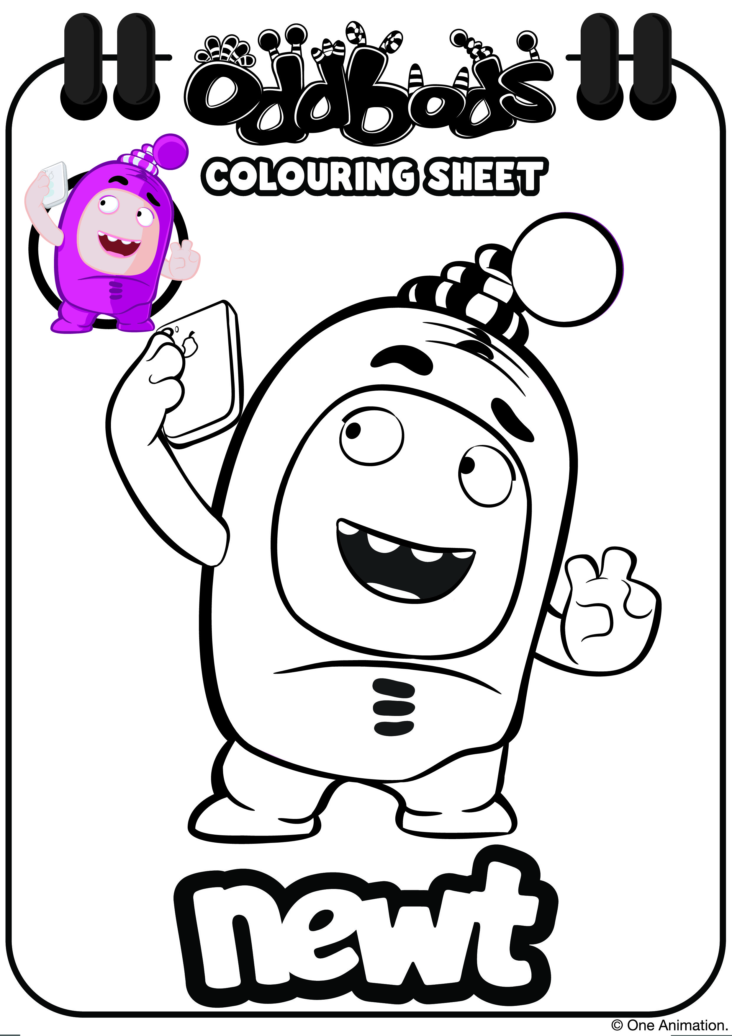 Oddbods Colouring Sheet Newt Kids Coloring Books Coloring Sheets Coloring Books