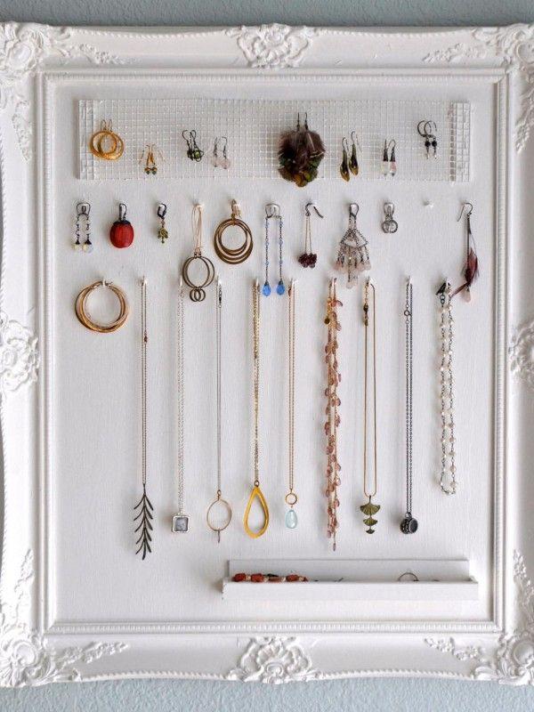 Rangement Bijoux 41 Idees Conseils Astuces Homelisty Rangement Bijoux Porte Bijoux Mural Diy Rangement Bijoux