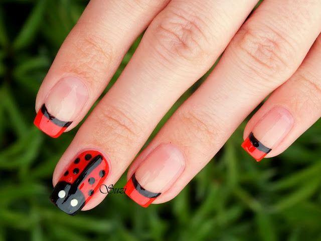 ladybug manicure beauty suzi