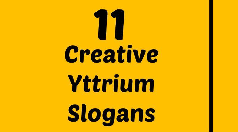 Yttrium Slogans Element Slogans Pinterest Slogan Atomic