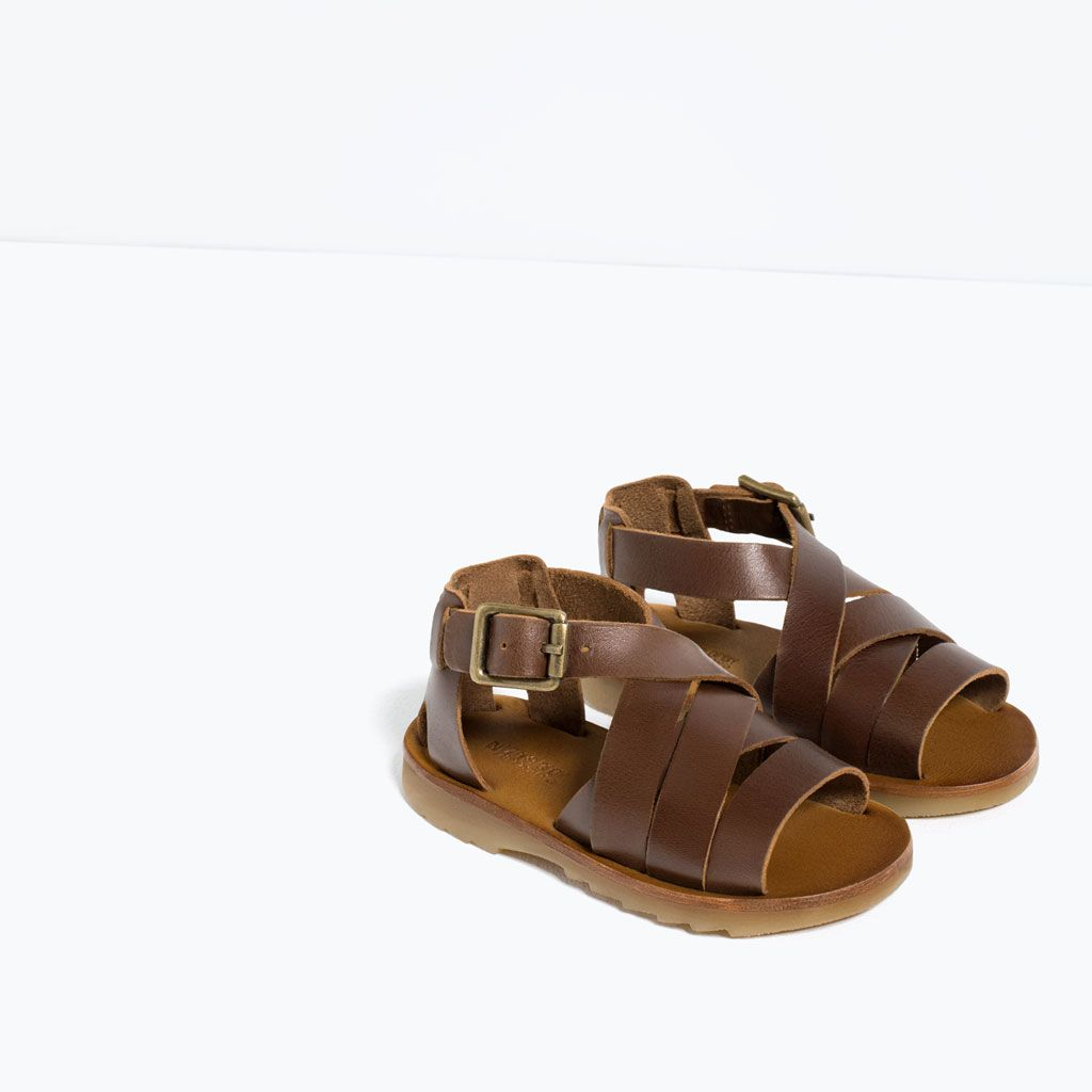 18c89f00289 LEATHER FLAT SANDALS-SHOES-BABY BOY