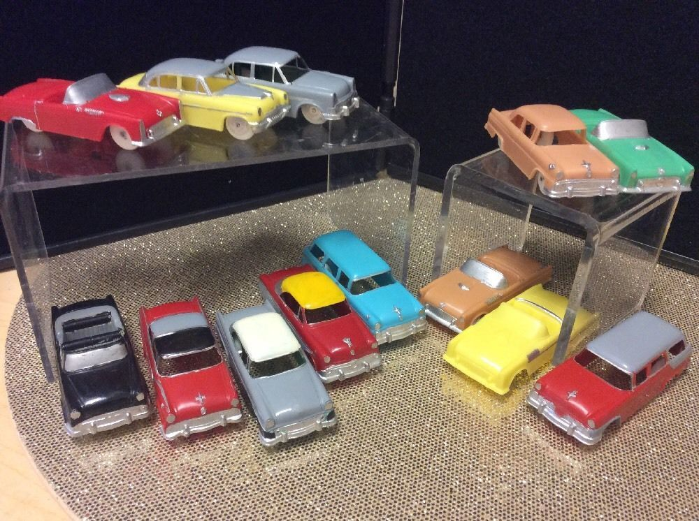 F&F Vintage Mold & Die Works Plastic Cars Lot Of 13 (With