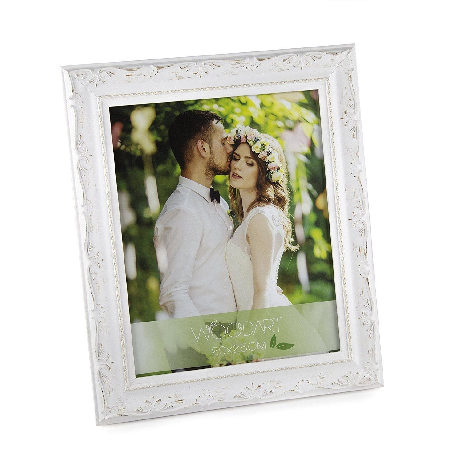 Wolff US Woodart Ornate Wood Picture Frame (Distressed White, 8x10 ...