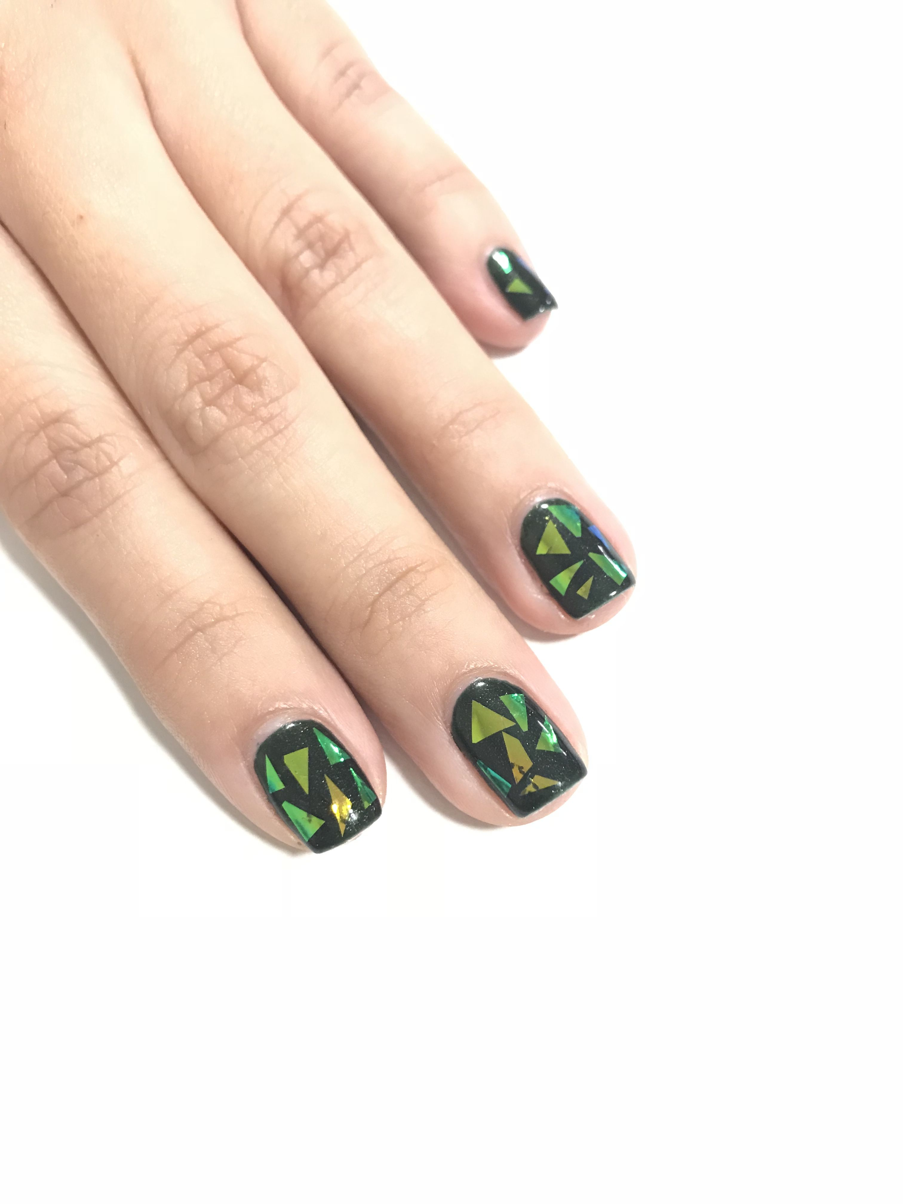 Shatters Glass Nail Art By Diane Diaz Cnd Shellac Manicure Nail
