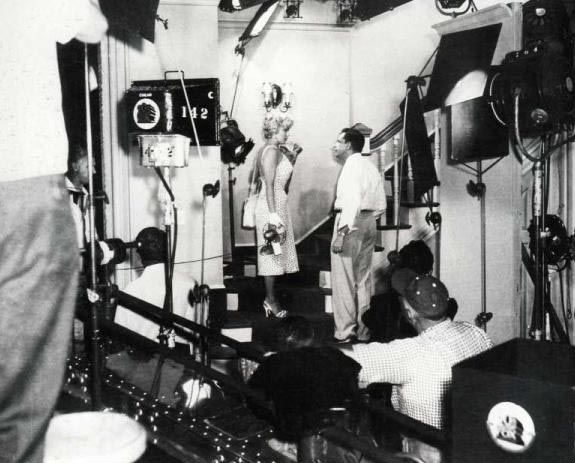 """Marilyn filming """"The Seven Year Itch"""" 1954"""
