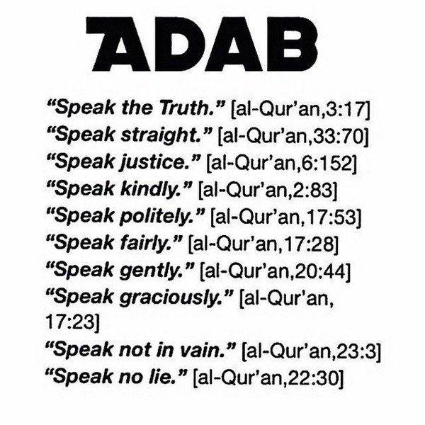 Image Result For Adab Dalam Islam Powerful Words Quran Verses