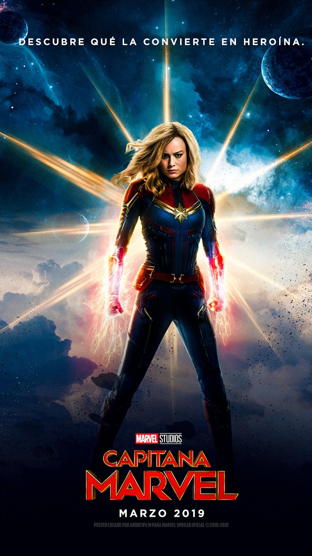 Captain Marvel Android Wallpaper Best Movie Poster Wallpaper Hd Captain Marvel Marvel Superheroes Captain Marvel Carol Danvers
