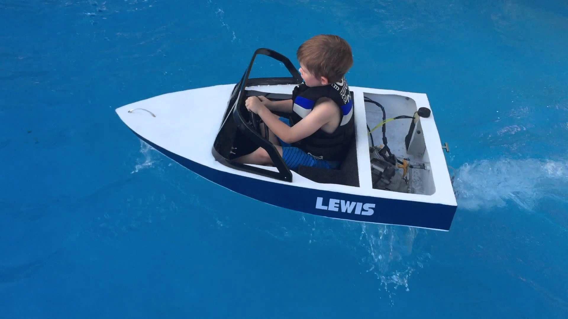 Mini Ski Boat Build Petrol Powered Wooden Boat
