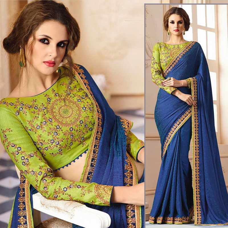 Indian Wedding Pakistani Sari Blouse Designer Bollywood Wear Party ethnic Saree