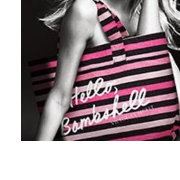 """VICTORIA'S SECRET LTD EDITION HELLO BOMSHELL TOTE BRAND NEW💕 IN ORIGINAL PACKAGING💕 Victoria's Secret LIMITED EDITION 2015 """"Hello Bombshell"""" striped canvas beach Tote bag. Color pink, hot pink, light pink and black stripes with white lettering.  double handles.  Measurements: 21"""" L x 14"""" H x 6 1/2"""" D.  7"""" strap drop.  Would make a nice tote, beach bag or weekender bag. 🚫NO TRADES🚫. 💲BUNDLE FOR ADDITIONAL SAVINGS 💲 PINK Victoria's Secret Bags Totes"""