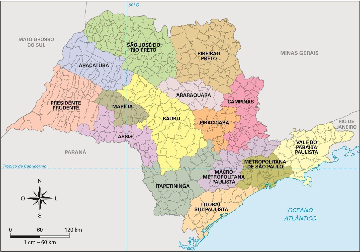 2cf1851cd São Paulo - Conheça seu Estado (História e Geografia): 11 - As regiões