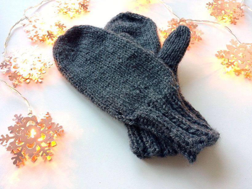 Einfache Fäustlinge stricken. Kostenlose Anleitung. | Knitting ...