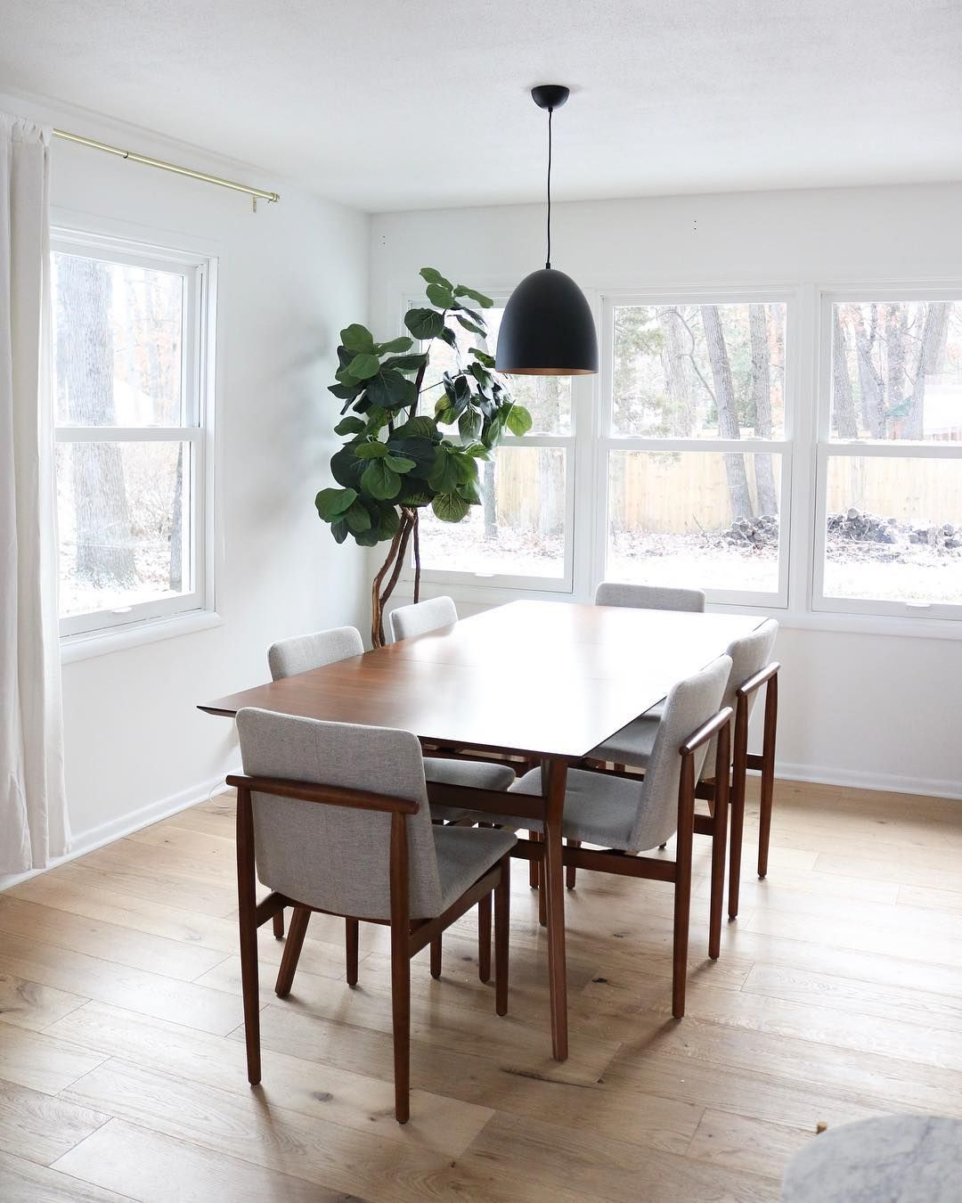 Mid Century Modern Dining Table From West Elm White Oak Hardwood And White Wa Mid Century Modern Dining Room