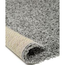 Photo of benuta Shaggy Rug Swirls Dark Gray 80×150 cm – Bed Mat for Bedroom benuta