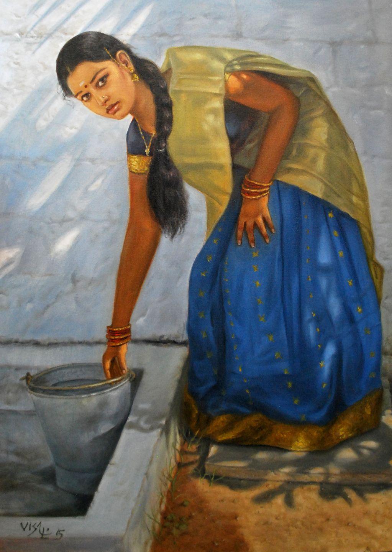 Tamil Girl To Wash Her Legs  Dravidian Tamil Girls -7807