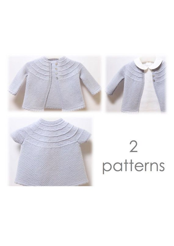 4fe71f560 Baby Set   Knitting Pattern Instructions in English   PDF Instant ...
