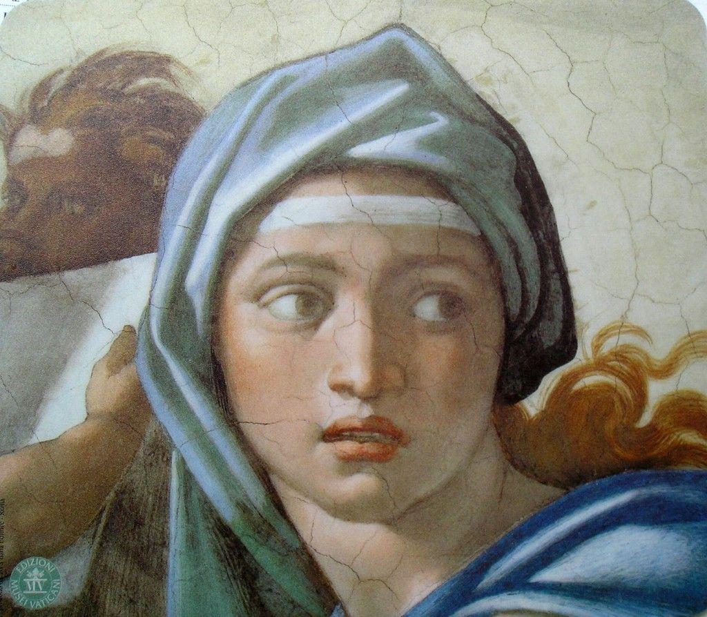 Miguel ángel Buonarroti La Sibila De Delfos 1509 Capilla Sixtina Pinturas De Miguel Angel Arte Renacentista Arte Del Renacimiento