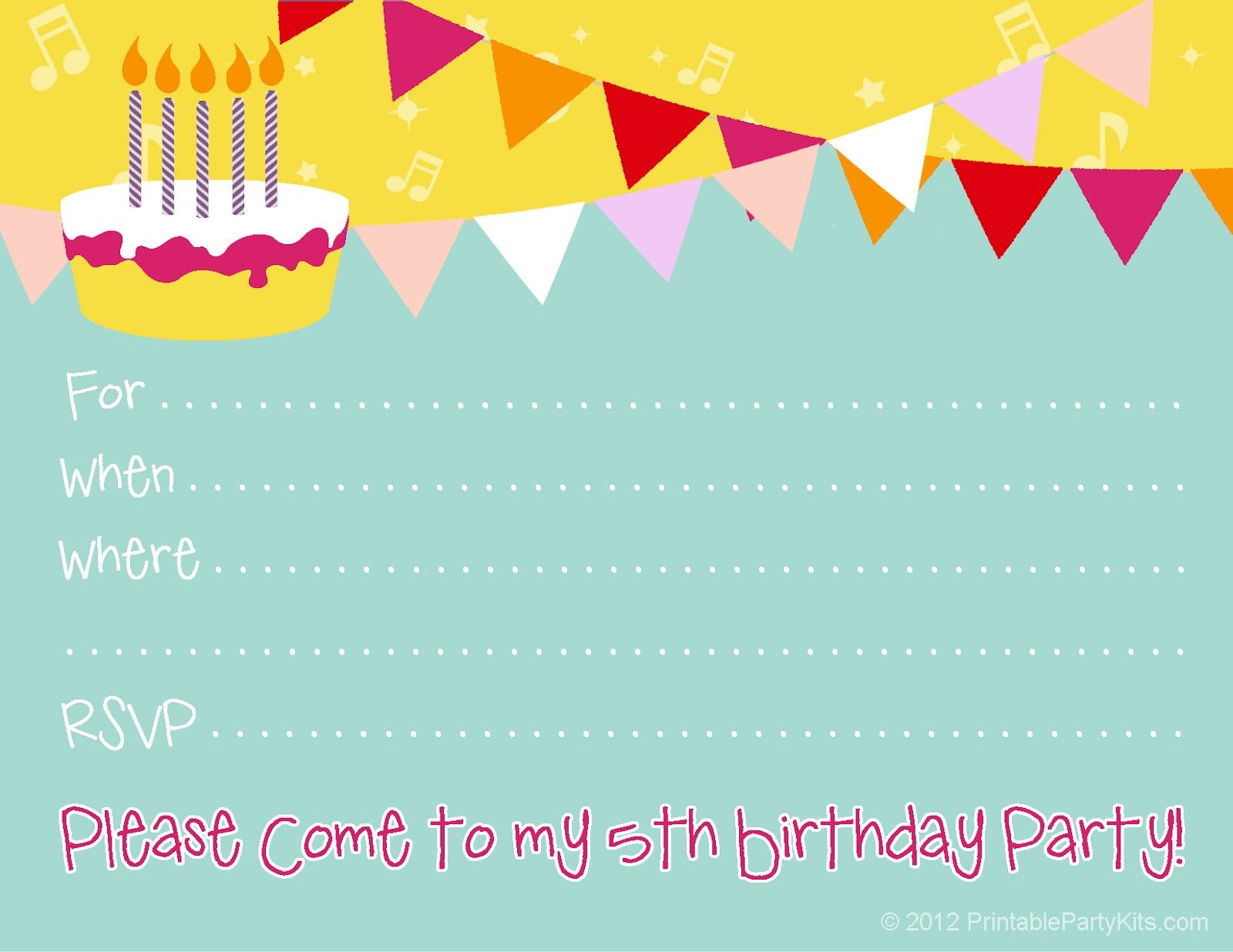 awesome Create Free Birthday Party Invitations Designs ...