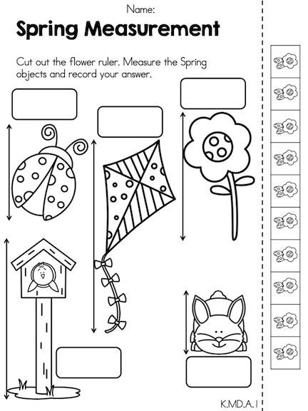Spring Math Activities Kindergarten Measurement Kindergarten Kindergarten Math Worksheets Spring Math Activities Kindergarten