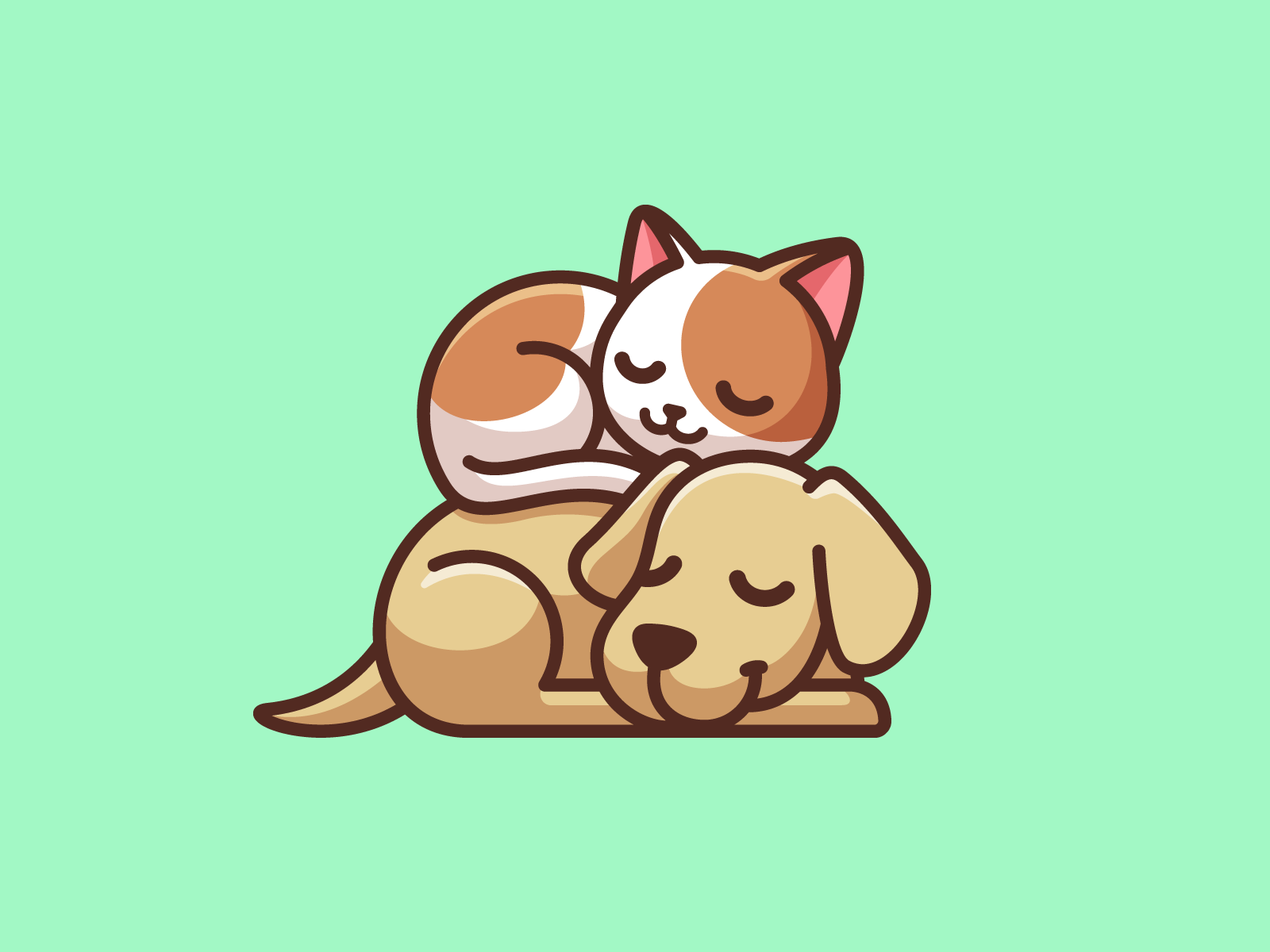 Best Friends Cat And Dog Drawing Dog Drawing Cute Animal Drawings