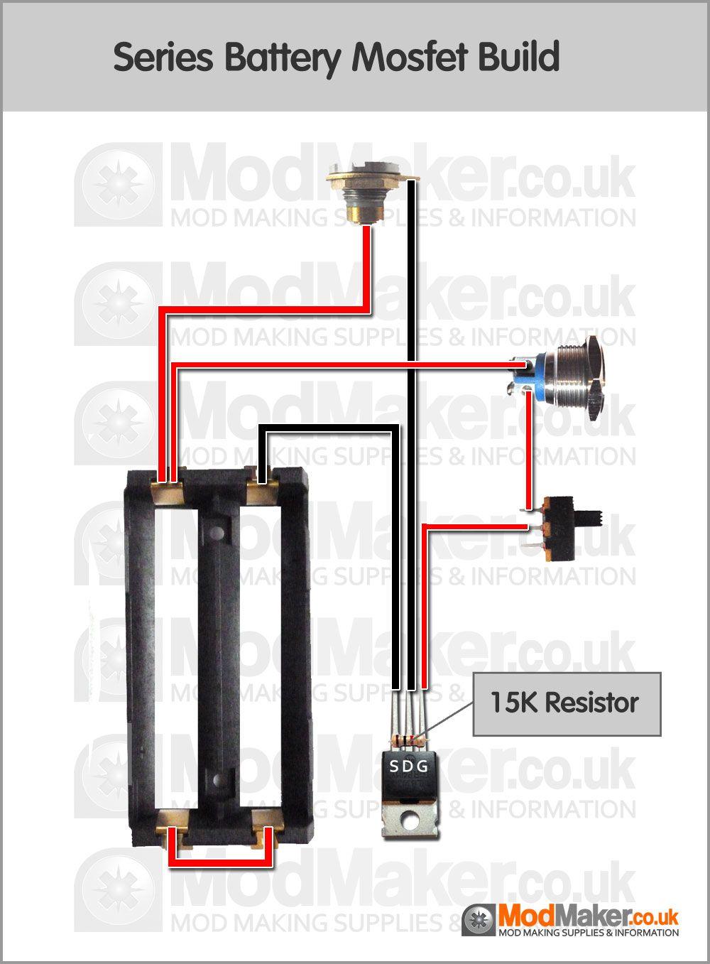 Series Battery Mosfet Wiring Diagram | box mods in 2019 | Vape mods diy, Vape diy, Diy box mod