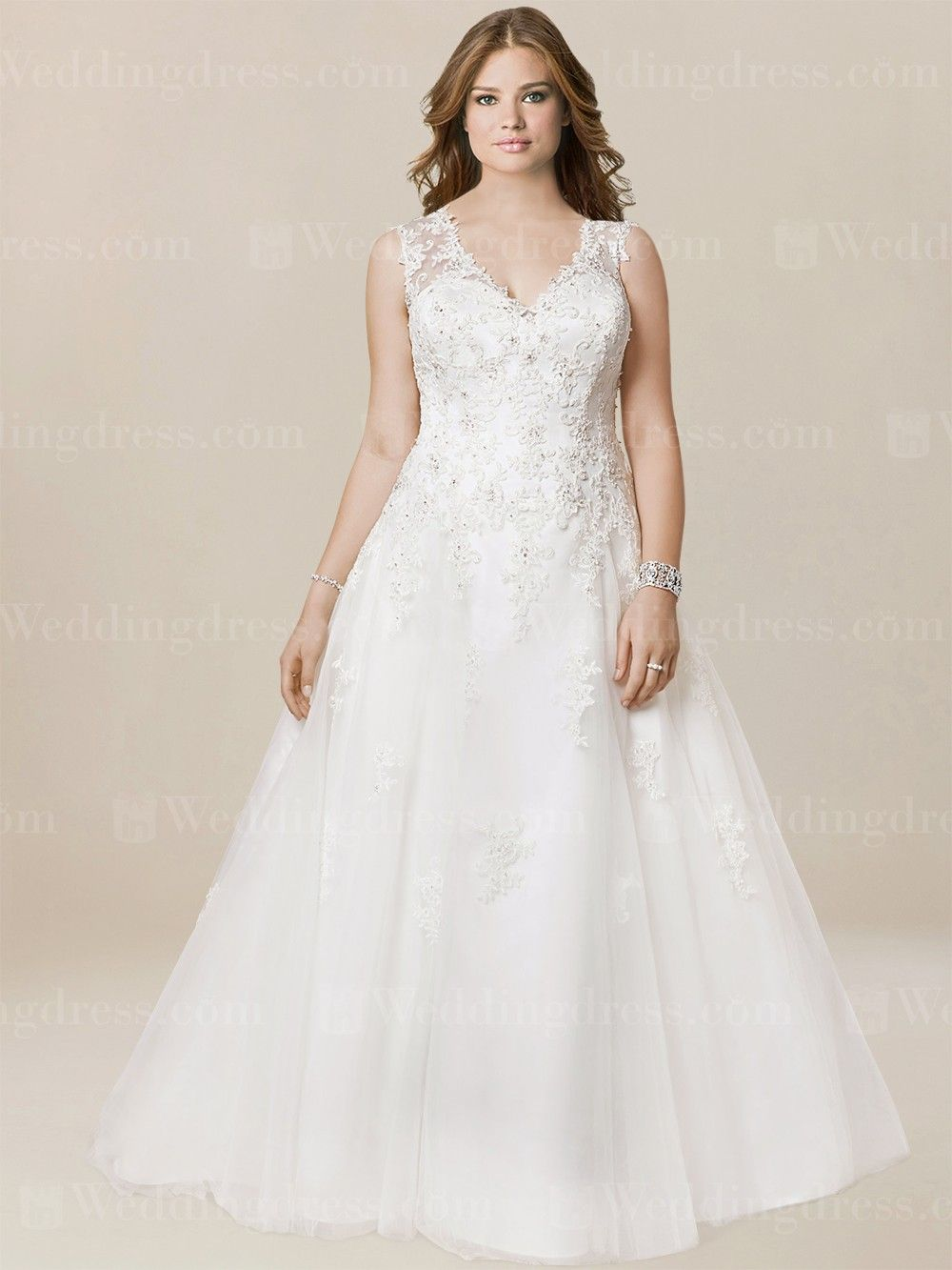 Plus Size Casual Wedding Dress PS203 | Pinterest