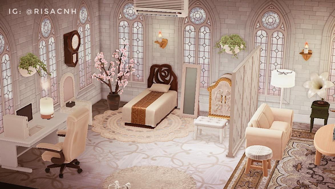 Wanted To Share My Upstairs Bedroom This Time Animalcrossing Animal Crossing Wild World Animal Crossing New Animal Crossing Room ideas for acnh