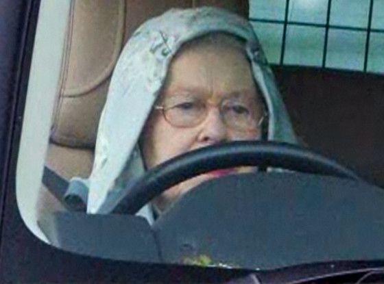 Prince Harry Who Queen Elizabeth Sports A Hoodie Behind The Wheel Queen Of England Queen Elizabeth Show Queen