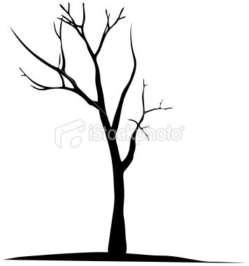 Vector Dead Tree Silhouette Trees Art Drawing Tree Silhouette Tattoo Tree Silhouette