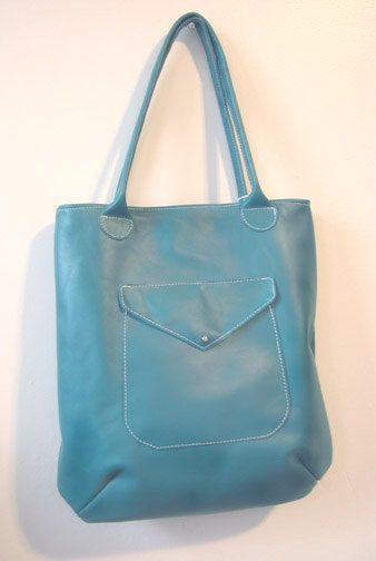 Teal Leather Shoulder Bag by sidneyann on Etsy, $160.00