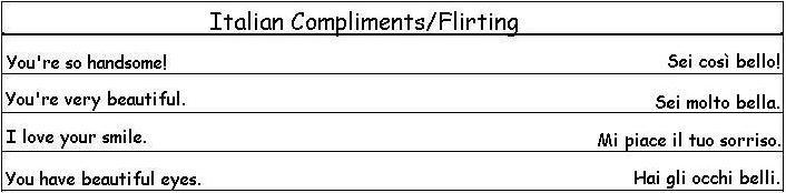 Italian flirt phrases