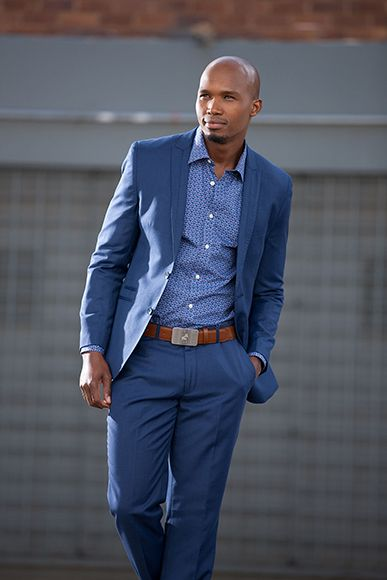 Royal blue suit: South African street style by John Craig | Man at ...