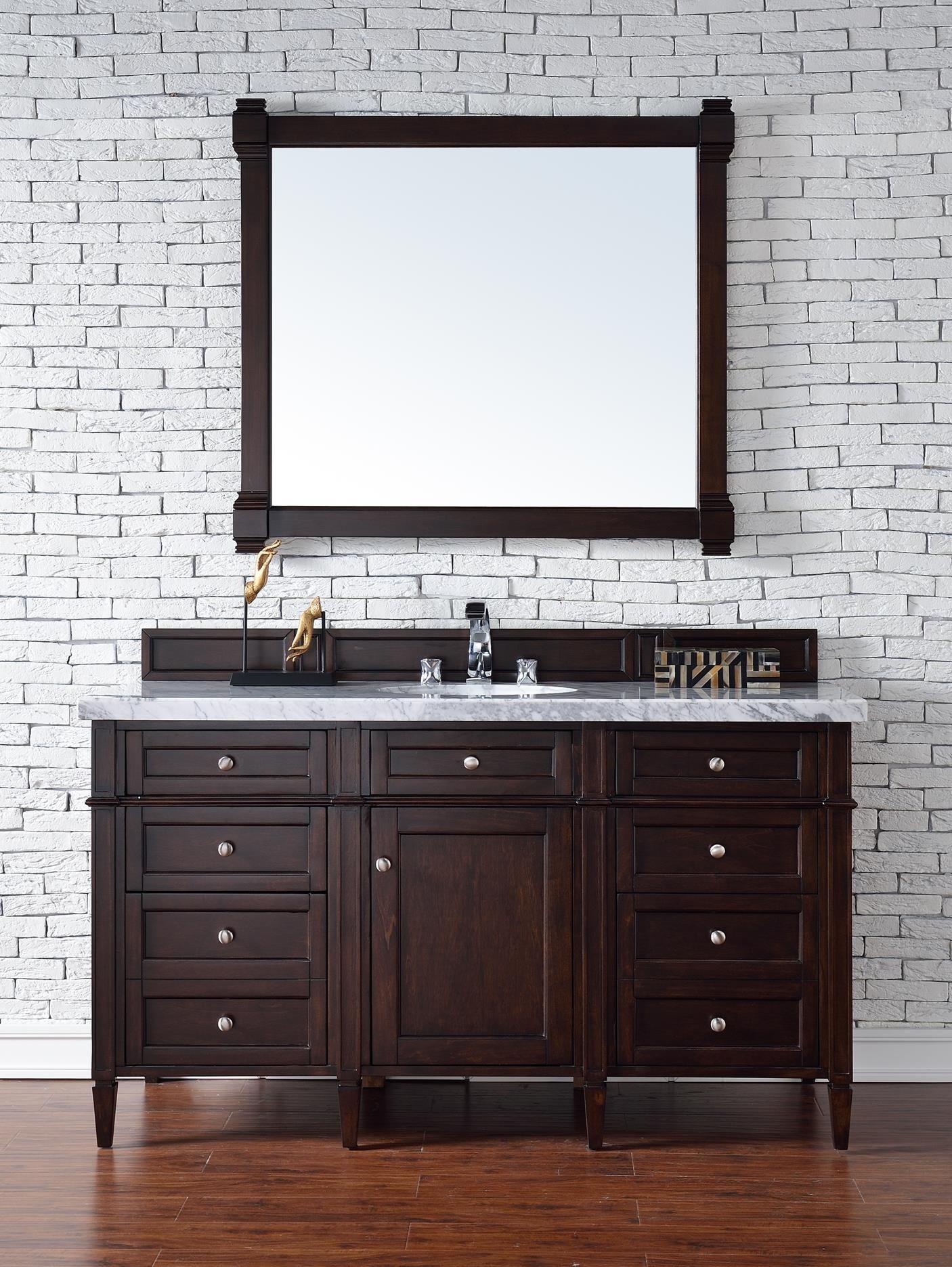 Brittany 60 Single Sink Bathroom Vanity Cabinet Burnished