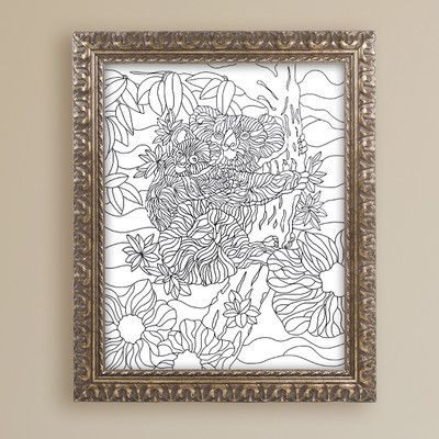 "Trademark Art ""Mixed Coloring Book 59"" by Kathy G. Ahrens Framed Graphic Art Size: 20"" H x 16"" W x 0.5"" D"
