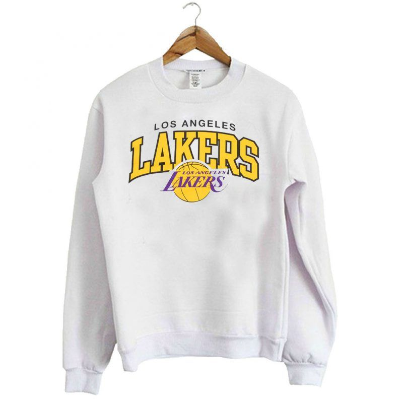 Los Angeles Lakers Nba Logo Sweatshirt Sweatshirts Team Sweatshirts Nba Sweatshirt