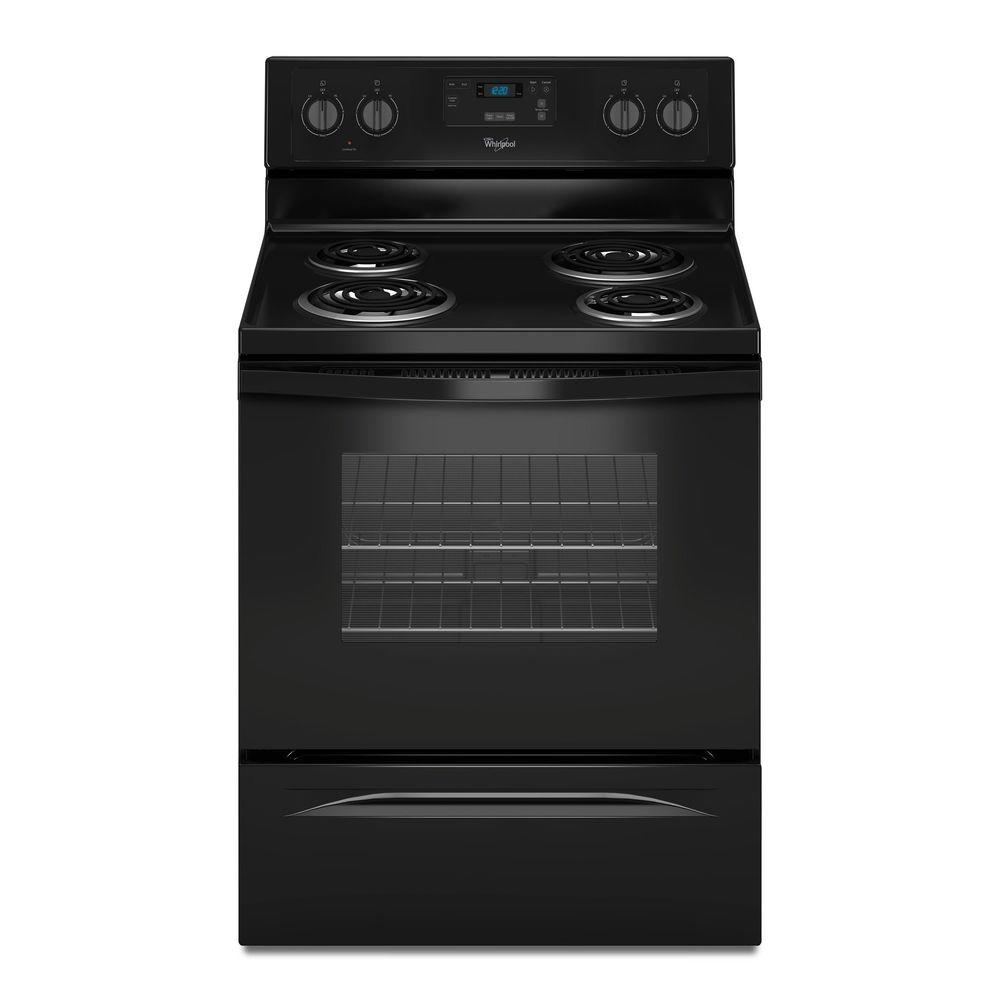 Whirlpool 4 8 Cu Ft Freestanding Electric Range Oven In Black Counter Depth Wfc150m0eb The Home Depot Electric Range Oven Freestanding Electric Ranges Electric Range