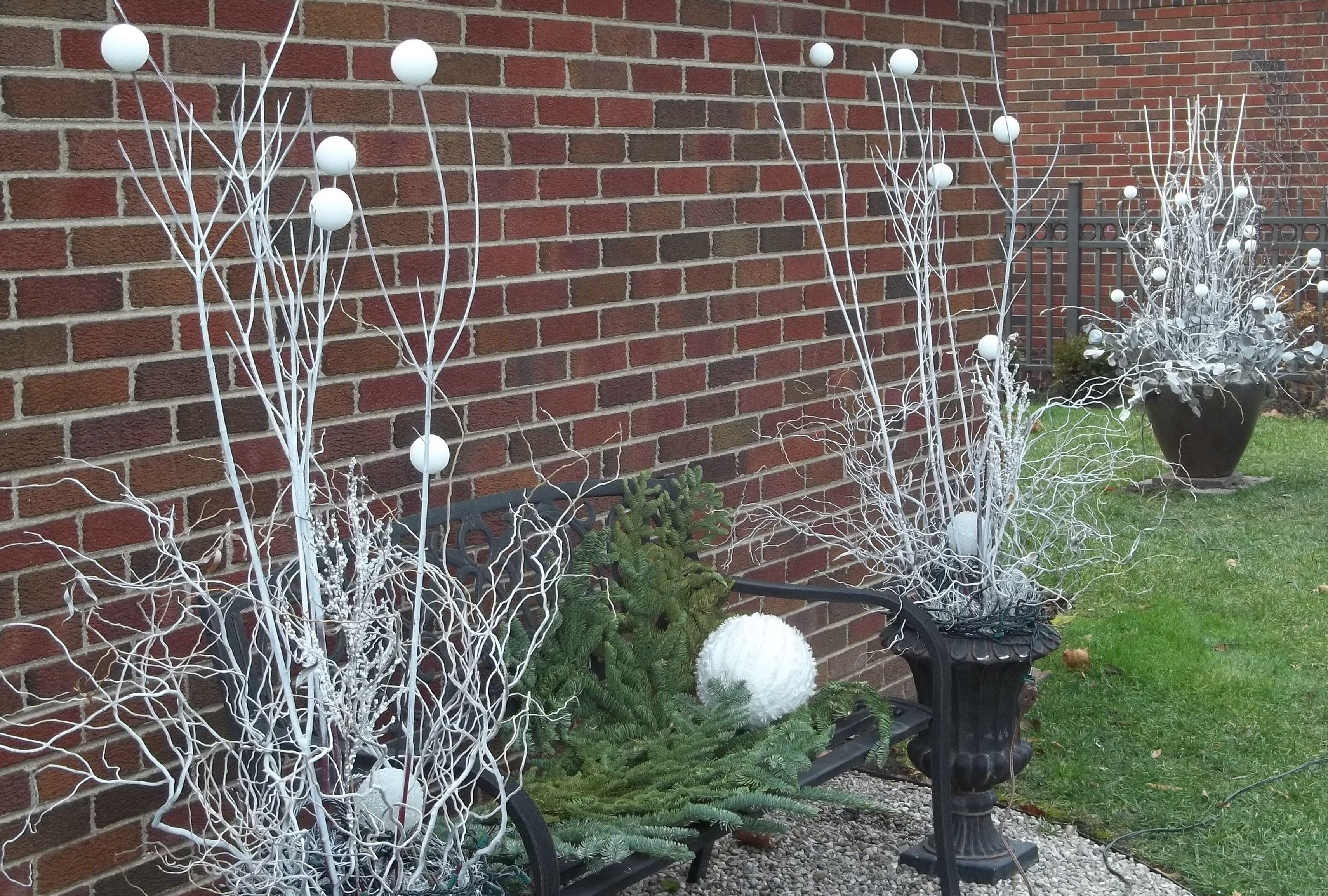 White twigs,balls,and branches for winter by E.E.Cummings
