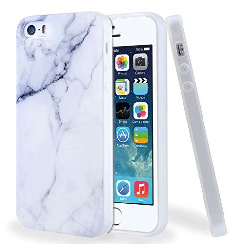 5f98d66c830 Funda para iPhone SE / 5 / 5S, Leathlux Premium Mármol Patrón Suave TPU  Carcasa
