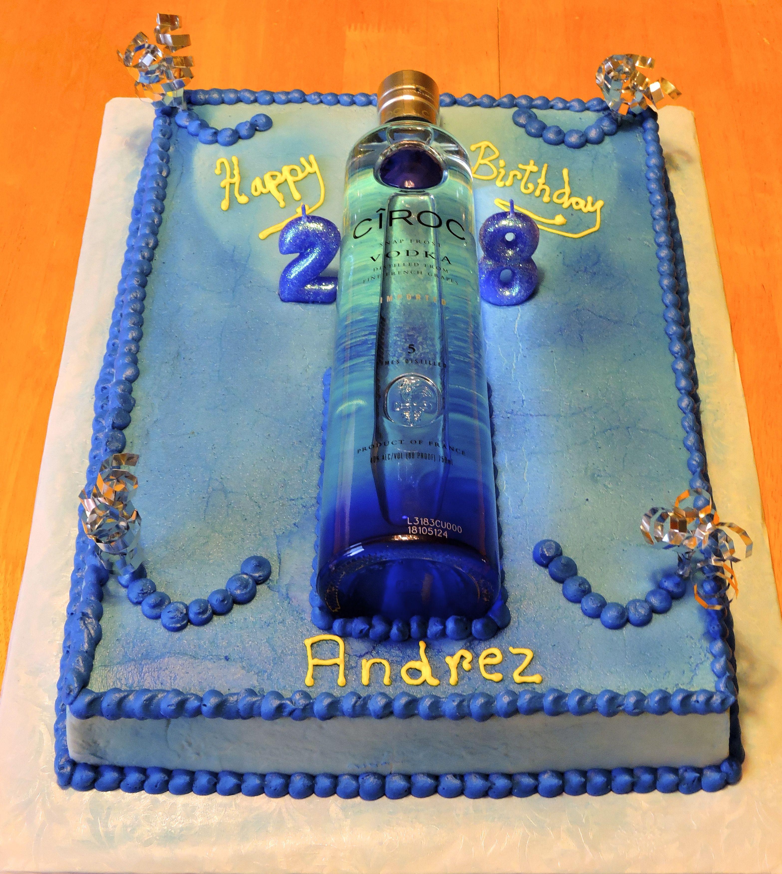 Ciroc Cake eb3 Pinterest Cake Birthday cakes and Frosting