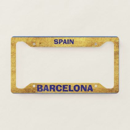 Barcelona Gold License Plate Frame | country styles | Pinterest ...