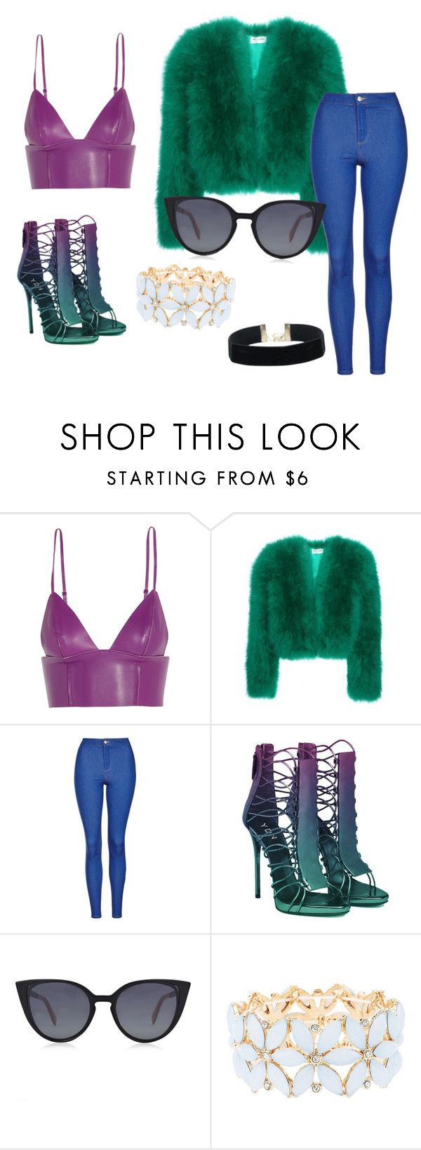"""""""60s coming back"""" by rnickleski ❤ liked on Polyvore featuring T By Alexander Wang, Yves Saint Laurent, Topshop, Fendi, Charlotte Russe and cute"""