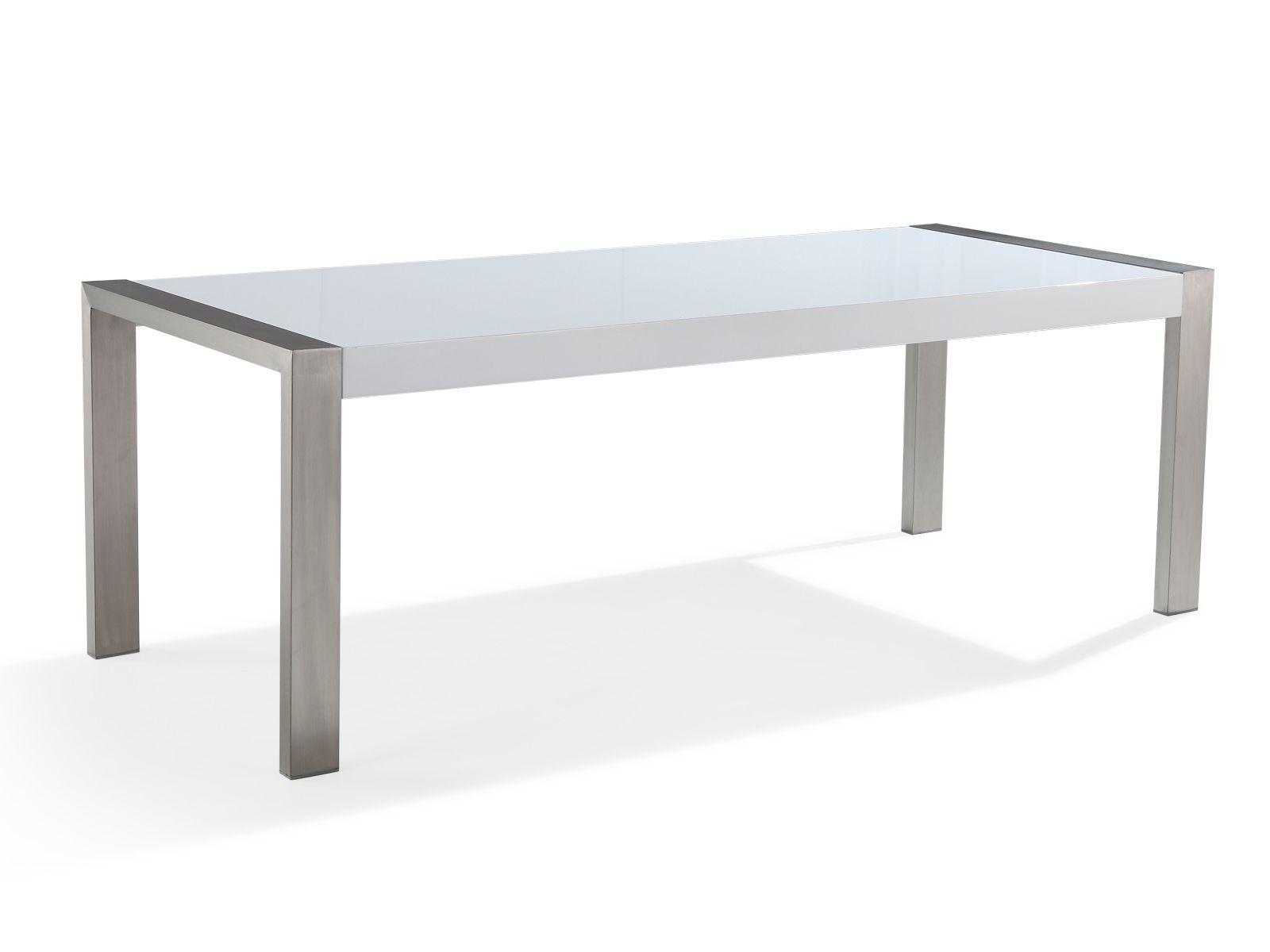 Luxus Esstisch 220 cm rostfrei - Tisch aus Edelstahl - Edelstahltisch - Stahl - ARCTIC I